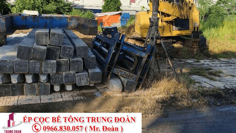 Ép cọc bê tông Long Thành