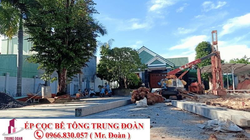 ép cọc bê tông huyện Giồng Trôm, Thạch Phú tỉnh Bến Tre