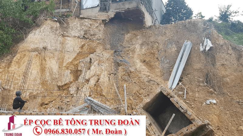 ép cọc công trình đất lún