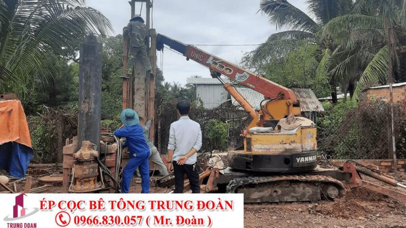 ép cọc bê tông xã Long Tân Nhơn Trạch