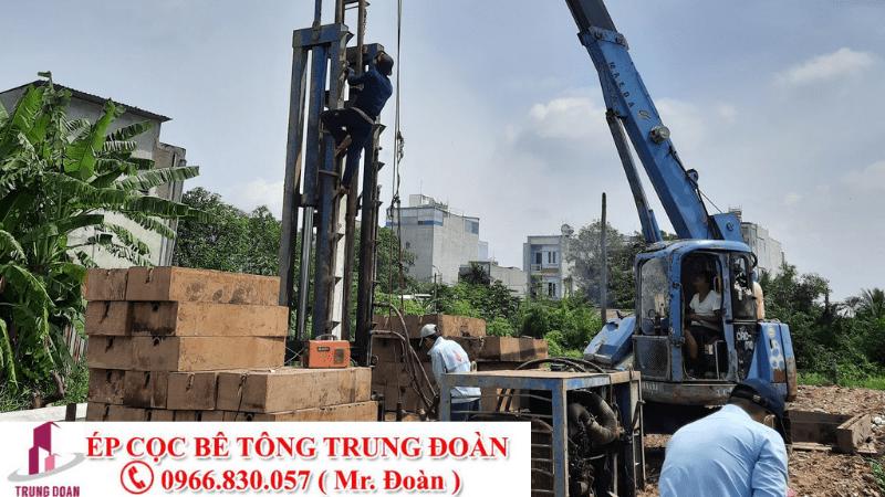 Ép cọc bê tông xã Bình Lộc