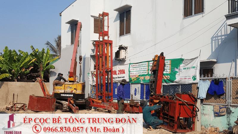 ép cọc bê tông xã Phú Thạnh