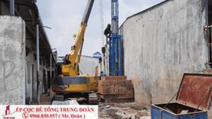 ép cọc bê tông tại huyện Tân Phú