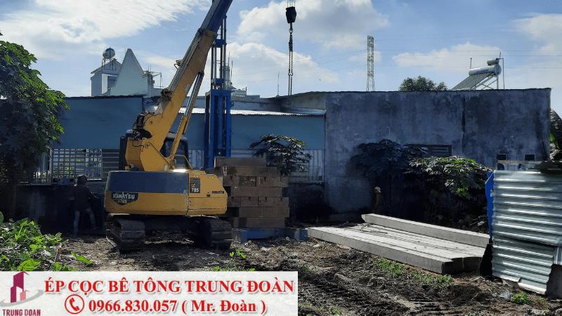 Ép cọc bê tông xã Nam Cát Tiên