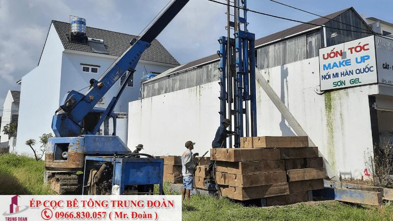 ép cọc bê tông xã Phú An huyện Tân Phú