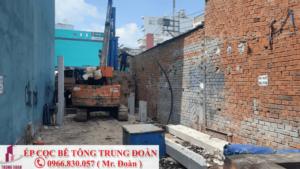 Ép cọc bê tông phường Bình Trị Đông A