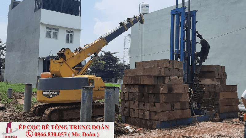 ép cọc bê tông xã Bình Lợi