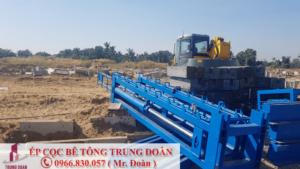 ép cọc bê tông tại Xuân Lộc