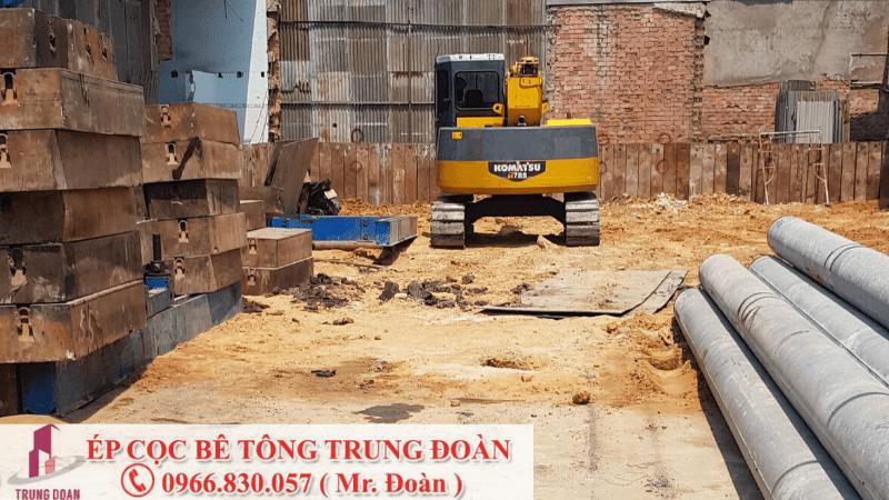Ép cọc bê tông xã Tân An
