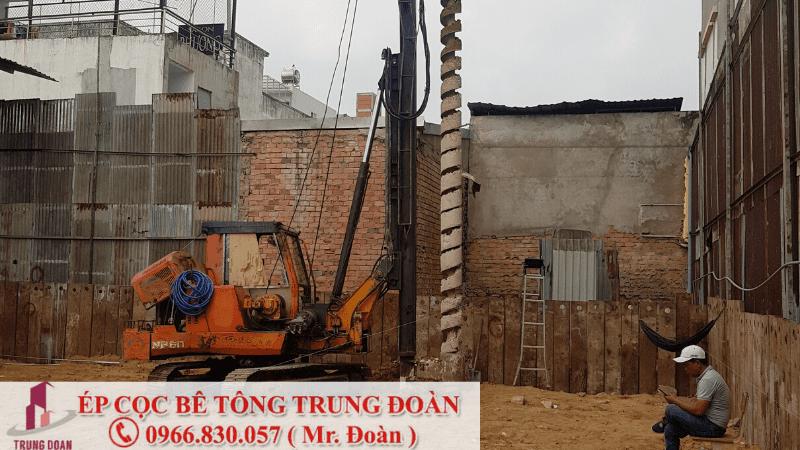 Ép cọc bê tông xã Bảo Bình huyện Cẩm Mỹ