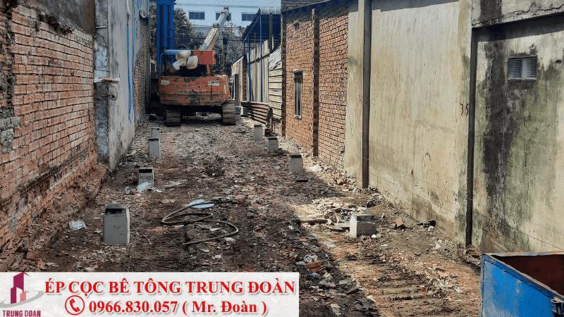 ép cọc bê tông xã Phú Hòa huyện Nhơn Trạch