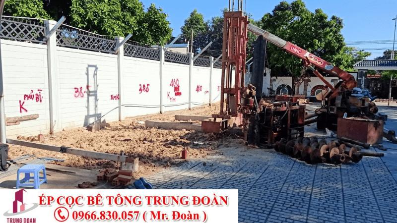 ép cọc bê tông xã Lai Hưng huyện Bàu Bàng
