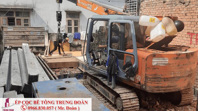 ép cọc bê tông xã An Thới Đông huyện Cần Giờ