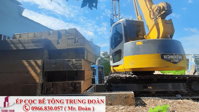 Ép cọc bê tông xã Long Thạnh huyện Thủ Thừa