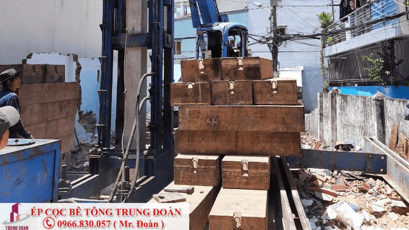 Ép cọc bê tông xã Bình An huyện Thủ Thừa