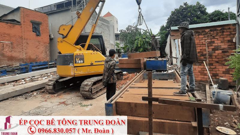 ép cọc bê tông xã Chánh Phú Hòa thị xã Bến Cát
