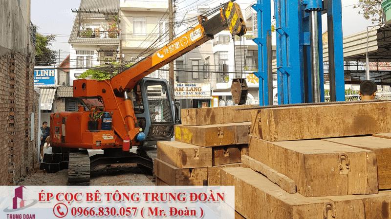 Ép cọc bê tông xã Tam Lập huyện Phú Giáo