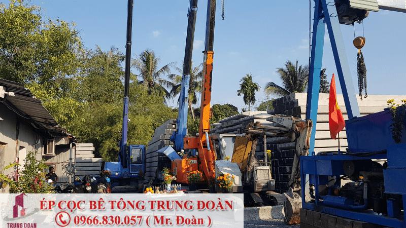 Ép cọc bê tông thị trấn Lai Uyên huyện Bàu Bàng