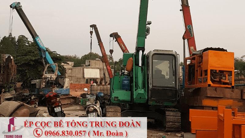 Ép cọc bê tông xã Tam Thôn Hiệp huyện Cần Giờ