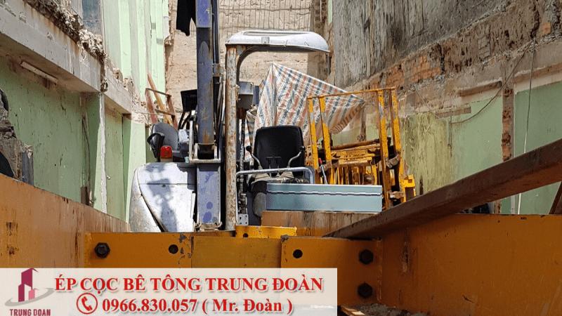 Ép cọc bê tông xã An Long huyện Phú giáo