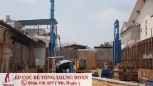 Công trình ép cọc bê tông tại Hớn Quản tỉnh Bình Phước