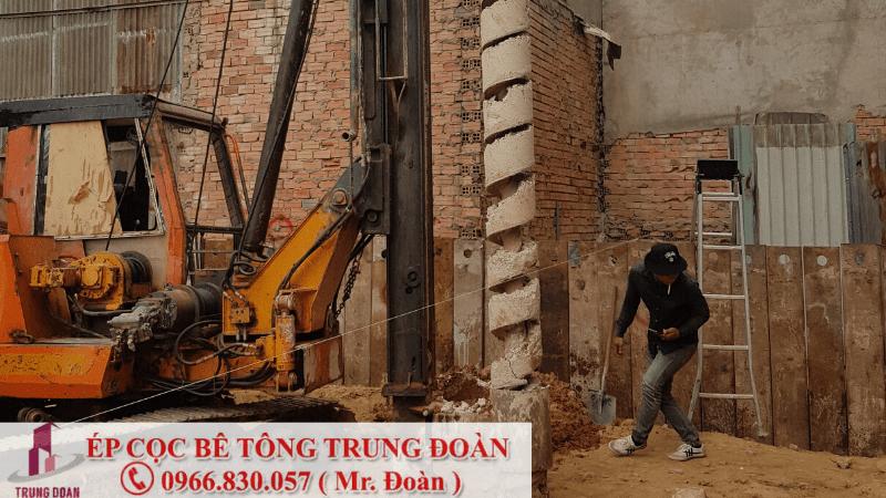 Ép cọc bê tông phường Phú Chánh thị xã Tân Uyên