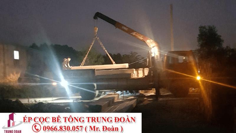 Ép cọc bê tông xã Long Hòa huyện Dầu Tiếng