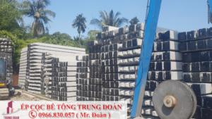 ép cọc bê tông xã Mỹ An huyện Thủ Thừa