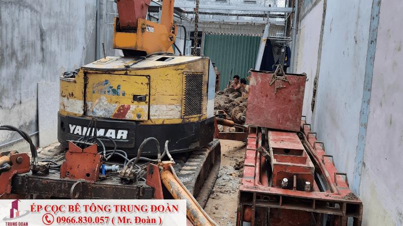 ép cọc bê tông xã Hiệp Thạnh huyện Châu Thành tỉnh Long An