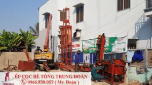 Ép cọc bê tông xã Vĩnh Bửu huyện Tân Hưng
