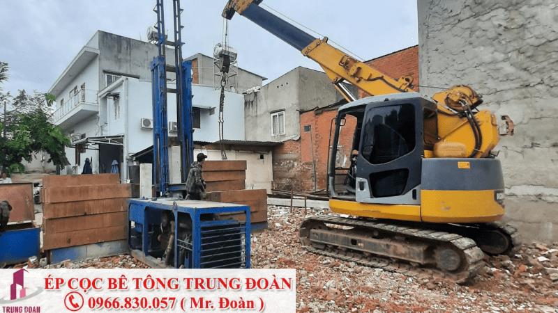 Ép cọc bê tông xã Phước Hậu huyện Cần Giuộc