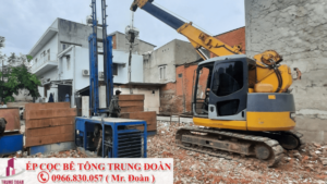 Ép cọc bê tông phường 7 huyện Tân An Long An