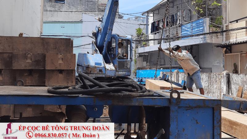 Ép cọc bê tông thị trấn Hậu Nghĩa huyện Đức Hòa