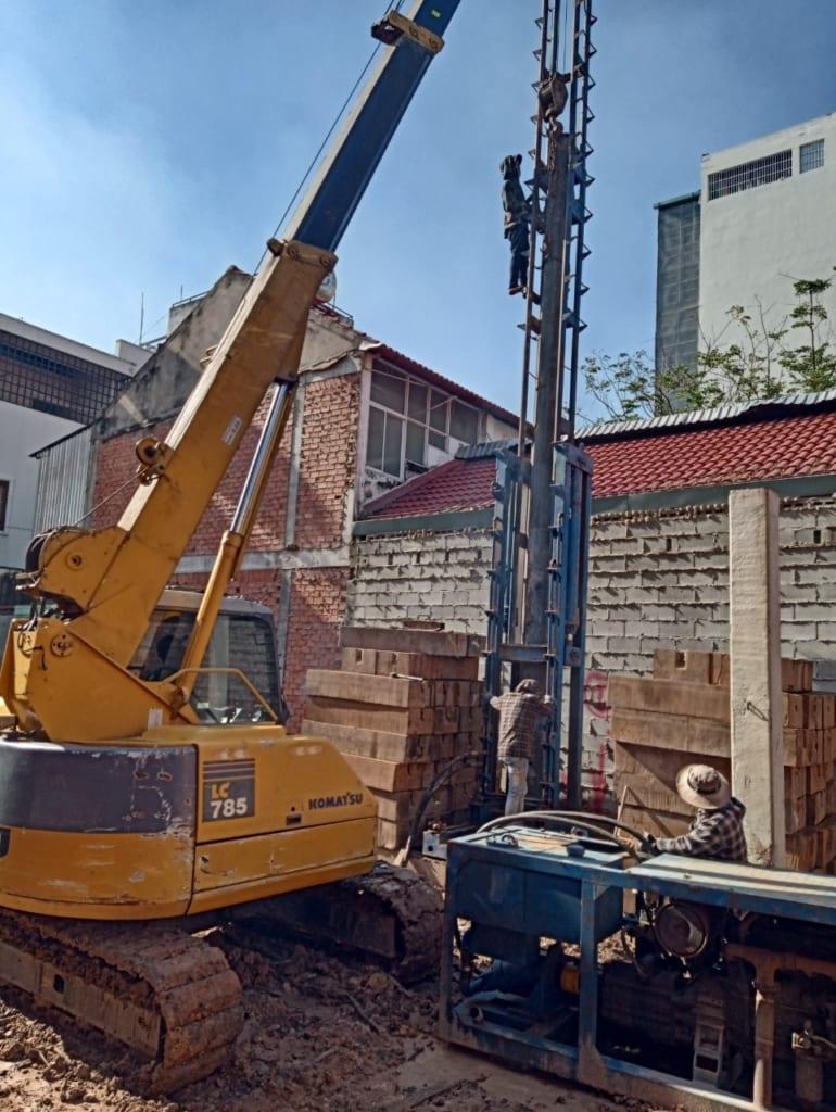 ép cọc bê tông xã An Lục Long huyện Châu Thành tỉnh Long An