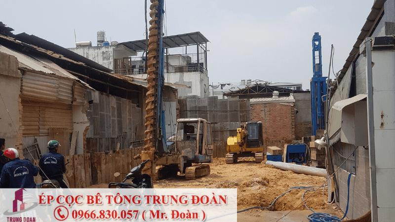 ép cọc bê tông xã Bình Tịnh, Tân Trụ, Long An