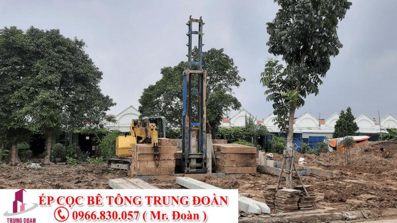 Ép cọc bê tông phường 1 thị xã Kiến Hưng