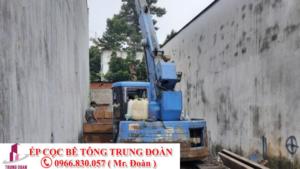 Ép cọc bê tông thị trấn Bình Phong Thạnh, Mộc Hóa