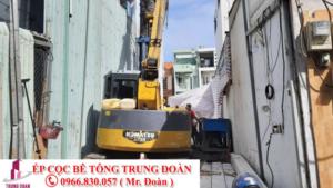 Ép cọc bê tông xã Long Khê huyện Cần Đước
