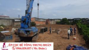 Ép cọc bê tông tại Bình Long tỉnh Bình Phước
