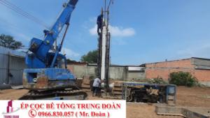 Ép cọc bê tông xã Tân Bửu huyện Bến Lức