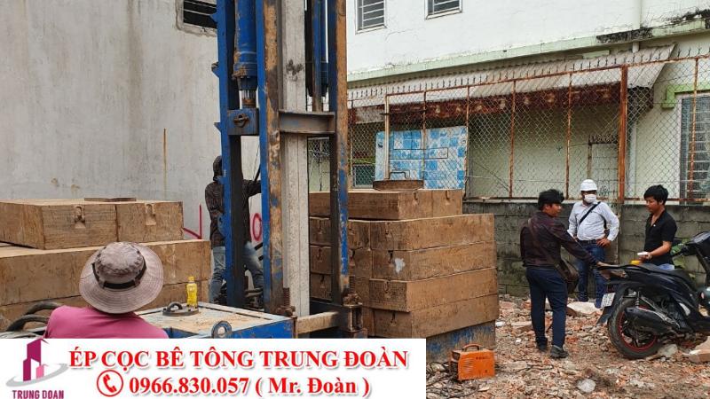 Ép cọc bê tông xã An Thạnh huyện Bến Lức