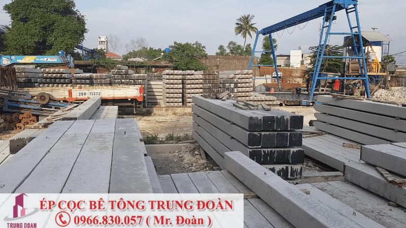Ép cọc bê tông xã Lương Bình huyện Bến Lức