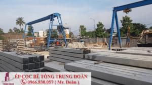 Ép cọc bê tông xã Phước Tân Hưng huyện Châu Thành