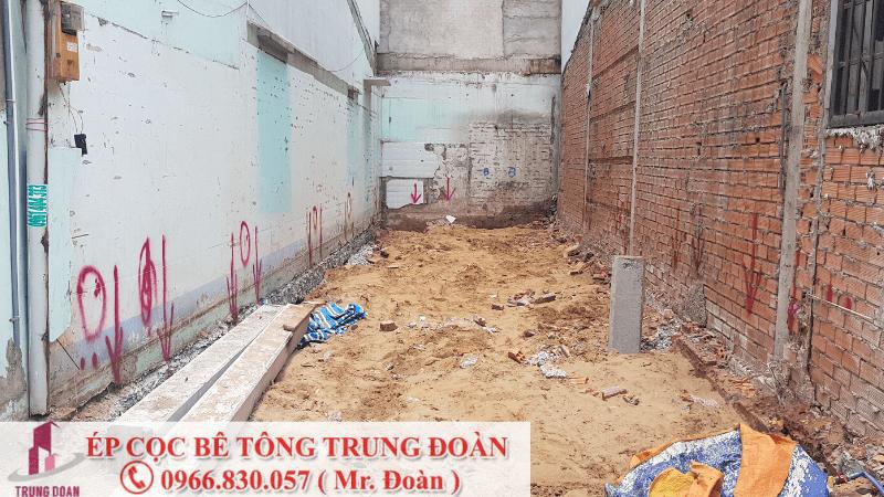 Ép cọc bê tông xã Long Thượng, Cần Giuộc