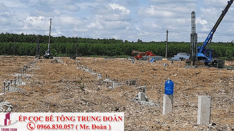 ép cọc bê tông xã Long Trì huyện Châu Thành tỉnh Long An