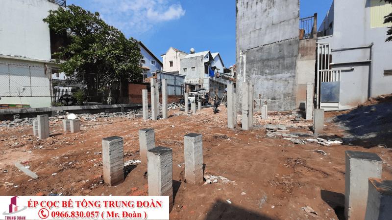 Dừng ép cọc khi hoàn thiện công trình