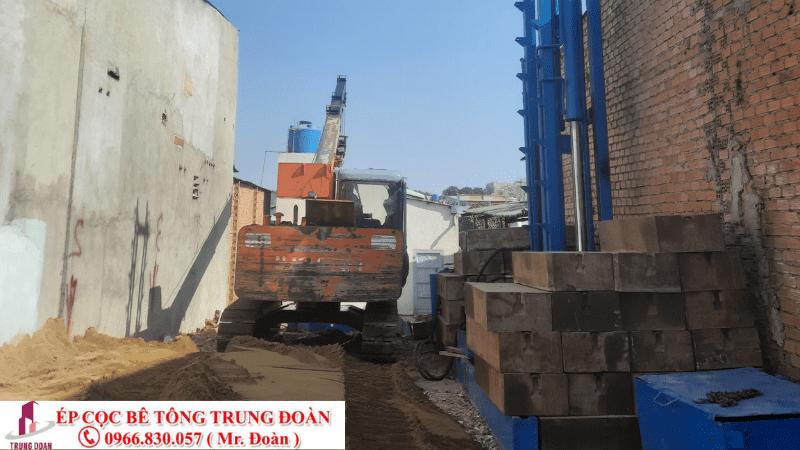 Công trình ép cọc bê tông do Trung Đoàn thực hiện