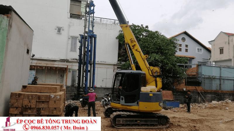 Dự án ép cọc bê tông tại Hớn Quản tỉnh Bình Phước