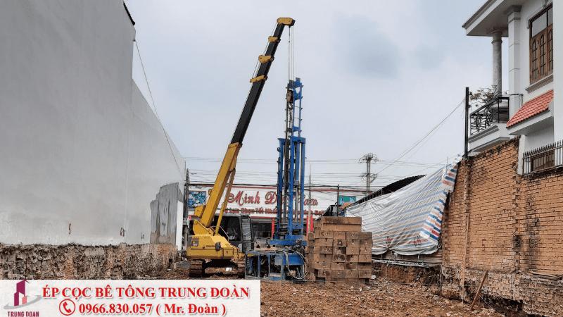 ép cọc bê tông tại Bù Gia Mập tỉnh Bình Phước