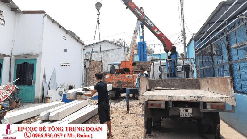 ép cọc bê tông tại Hòa Đa tỉnh Bình Thuận
